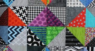 """Modern Baby Quilt; """"Andie""""; Bright Colors; Baby Blanket; Geometric; Baby Quilt, Lap Quilt, Play Mat; Wall Art; Gender Neutral"""