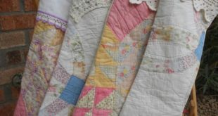 7 Ways To Re-Use And Repurpose Your Old Quilts!  This would have to be a last re...