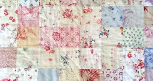 Cot quilt handmade by HenHouse with vintage fabrics