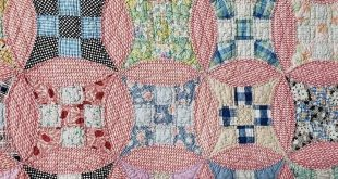 Details about Country Home! Vintage 30s Red & White Feedsack QUILT Gift Quality Beauty