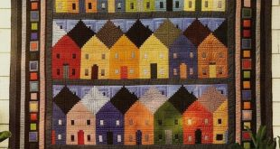 Details about Log Cabin Quilt Block Sewing Pattern