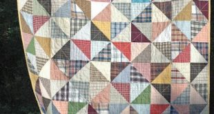 HST quilt of Men's Shirts [plaids & stripes]. Someday I'll make this fro...