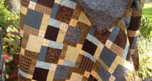 Here is a manly quilt just for that special man in your life. Made out of brown ...