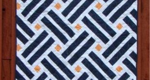 Laying Tracks Modern Quilt