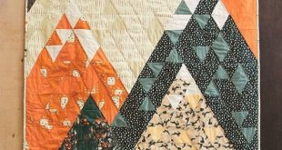 """""""Mountains Quilt"""" featuring our fabric collection, """"Campsite."""""""
