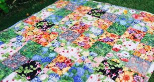 Susie's Garden Lap Quilt - free pattern easy quilt, suitable for charity qui...
