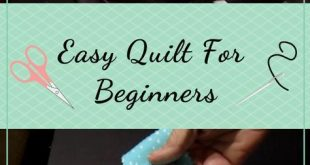 This is an easy quilting, how to project for beginners. This quilt tutorial show...