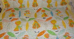 Vintage Quilt, Sweet Vintage Bonnet Girls Country Quilt, Handmade Quilt, Country Hand Sewn detail on it, S :)