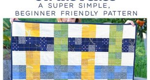 Woven Baby Quilt - On the Fence Quilt Pattern
