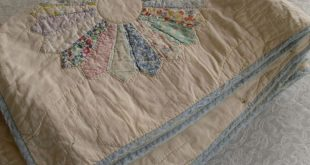 shabby chic quilts | Vintage Quilt. Shabby Chic. Dresden Plate Quilt. Cotton Bat...