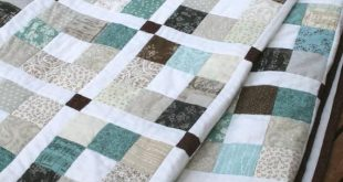 Modern Quilt Pattern, Jelly Roll Quilt Pattern PDF - 5 sizes Crib to King - Saltwater