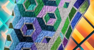 3D Tumbling Blocks Quilt (Man Sewing with Rob Appell)