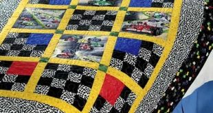 """Checkers ~ Quickly and easily piece this 46"""" x 65"""" bed quilt for your race car e..."""