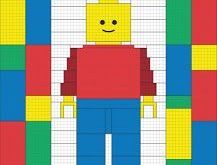 Designed by Mom, Lego quilt.