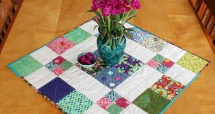 Disappearing 9-Patch Table Topper Quilt Tutorial