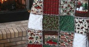 "Exclusive Woodland Retreat Flannel Snuggler ""Rag"" Quilt by Homespun Hearth Exclu..."