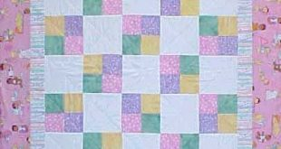 Free Baby Quilt Block Pattern | Four Patch Baby quilt in a weekend for a baby sh...