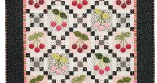 Friday Free Quilt Patterns: Black Cherry Dimensional Lap Quilt Pattern