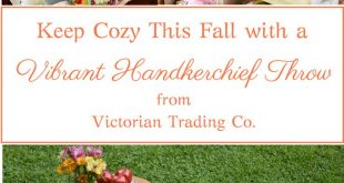 Keep Cozy This Fall With A Vintage Style Vibrant Handkerchief Throw