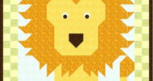 Lion Quilt Pattern 101 pdf format by SnugglyBuggs on Etsy, $6.00