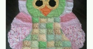 Norah's rag quilt owl! I love it!!! My favourite quilt yet! Can't wait t...