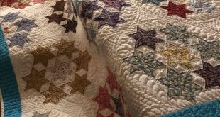 Seven Sisters - vintage quilt top. All freehand quilting. customquiltsofjoy...