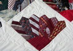 Tie quilt: pattern from Quick Quilts from the Heart (Fons & Porter)