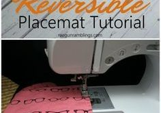15 Minute Reversible Placemats Tutorial