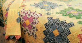 Almost A Flower Garden Quilt Pattern Pieced DZ