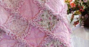 Baby Rag Quilts: Sweet Shabby Rose Baby Girl Crib Blanket Rag Quilt