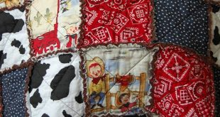 ***Cowboy Rag Quilt*** I love making these Rag Quilts... This one turned out soo...