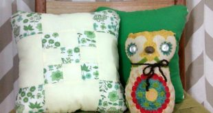 Great Aunt Midge's Vintage Quilt Block Pillows - Small Accent Pillows Country Farmhouse Style Home Decor Throw Pillow Retro Modern Vintage