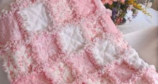 How to Make Shabby Rose   Baby Rag Quilts: Soft and Sweet Shabby Rose Baby Blank...