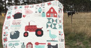 I started this quilt when the @beelori1 Farm Girl Vintage book sew along started...