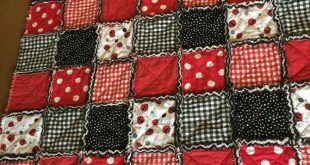 Ladybug Rag Quilt SOLD OUT - ladybug rag quilt-special orders available! Ladybug Picnic Modern Rag Quilt, similar or created per request