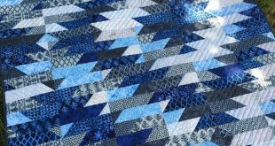 Modern quilt pattern, Mountain Dawning PDF Quilt Pattern for 2 1/2 inch strips, Delectable Mountains