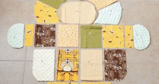 PDF Pattern for Puppy shaped rag quilt-baby quilt