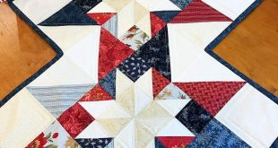 Patriotic Quilt Pattern Table Runner Star Quilt Pattern PDF Easy Quilt Pattern - INTRODUCTORY PRICE