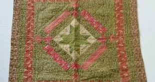 RARE Vintage 1870's Amish Country Antique Crib Quilt ~OUTSTANDING HAND QUILTING!...