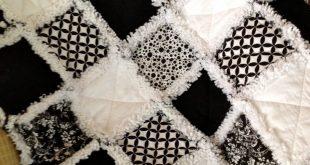 Rag Quilt Black and White Baby Rag Quilt Custom Made by ZeedleBeez on Etsy