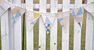 Repurposed Vintage quilt - vintage bunting -recycled Tattered cutter quilt- Barn Wedding- Farmhouse Decor