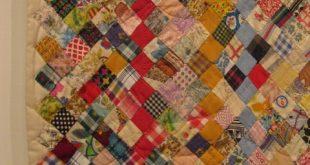 Scrap Quilt, c. 1920-1930. Detail. San Jose Quilt Museum.