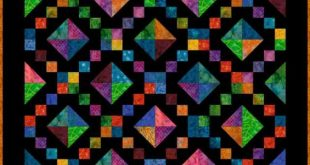 Sew Brightly Colored Fabrics on Black to Make a Lush Jewel Box Quilt