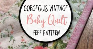 Simple Squares Vintage Baby Quilt