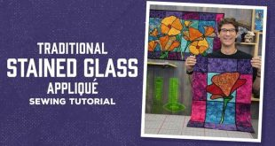 Traditional Stained Glass Applique with Rob - YouTube