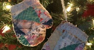 Vintage Cutter Quilt Hanging Mittens by IttyBittyCottage on Etsy