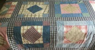 Vintage Patchwork Quilt 76x76 Hand & Machine Stitched Shabby Chic Decor