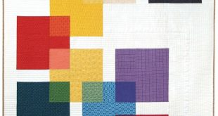 inspiration for quilt card with graphic look ... Swatch quilt, designed by Moder...