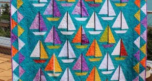 "Quilt Pattern / Scrap happy Sailboats - 60"" x 80"" - PDF download"