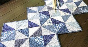 Easy Quilt Patterns PDF Pinwheel Quilt Pattern Table Runner Patterns Beginner Quilt Pattern PDF